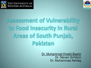 Assessment of Vulnerability to Food Insecurity in Rural Areas of South Punjab, Pakistan