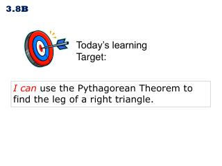 Today's learning  Target: