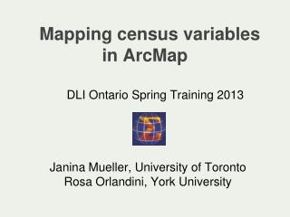 Mapping census variables in ArcMap