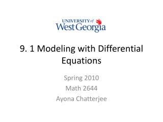 9. 1 Modeling with Differential Equations