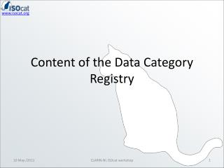 Content of the Data Category Registry