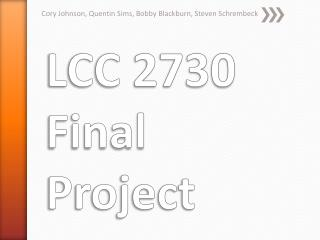 LCC 2730 Final Project