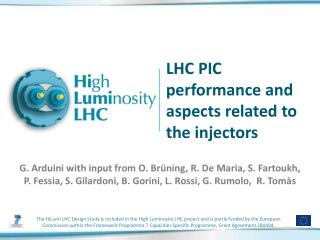 LHC PIC performance and aspects related to the injectors