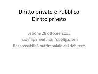Diritto privato e Pubblico  Diritto privato