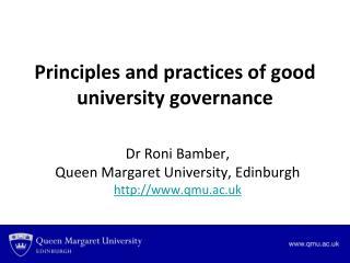 Dr Roni Bamber,  Queen Margaret University, Edinburgh qmu.ac.uk