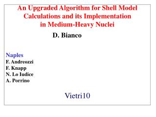 An Upgraded Algorithm for Shell Model Calculations and its Implementation in Medium-Heavy Nuclei