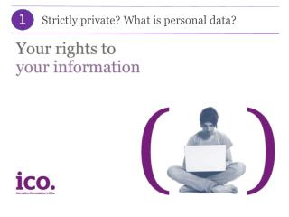Strictly  private ? What is  personal  d ata ?