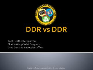 Capt  Heather McSparron Florida Wing Cadet Programs Drug Demand Reduction Officer