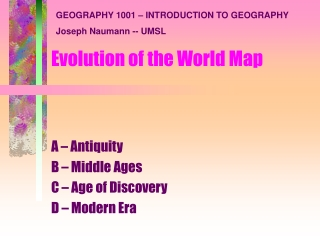 world map evolution (i)