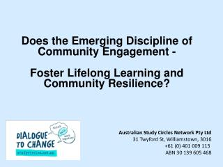 Does the Emerging Discipline of Community  Engagement -