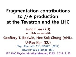 Fragmentation contributions to   production  at the  Tevatron  and the LHC