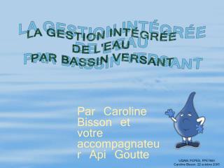UQAM, PCPES, FPE7650 Caroline Bisson, 22 octobre 2005