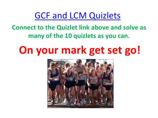 GCF and LCM Quizlets