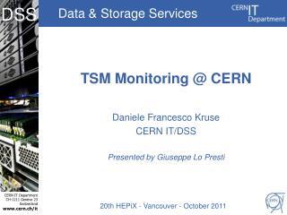 TSM Monitoring @ CERN