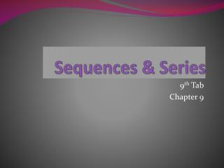 Sequences & Series