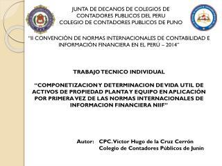JUNTA DE DECANOS DE COLEGIOS DE CONTADORES PUBLICOS DEL PERU