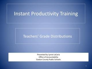 Instant Productivity Training