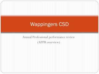 Wappingers CSD