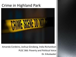 Crime in Highland Park