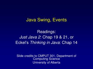 Java Swing, Events