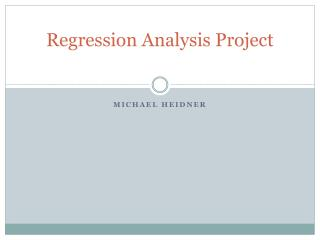 Regression Analysis Project