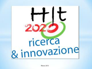 3376 HIT Presentazione HIT 2020 ricerca&innovazione