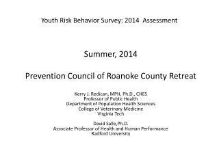 Youth Risk Behavior Survey: 2014  Assessment