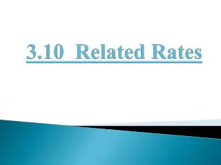 3.10  Related Rates