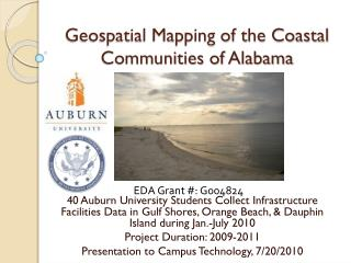 Geospatial  Mapping of the Coastal Communities of Alabama