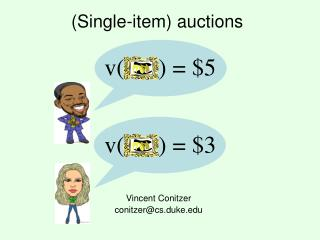 (Single-item) auctions