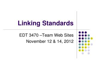 Linking  Standards