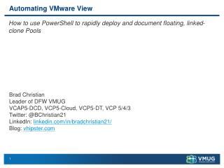 Automating VMware View