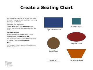 Create a Seating Chart