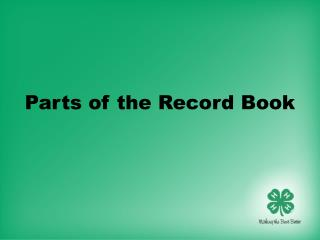 Parts of the Record Book