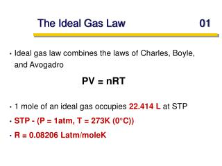 The Ideal Gas Law	01