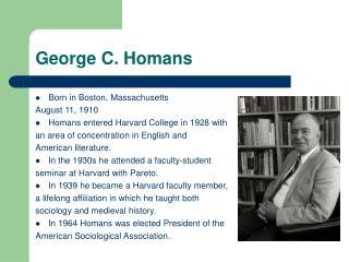 George C. Homans
