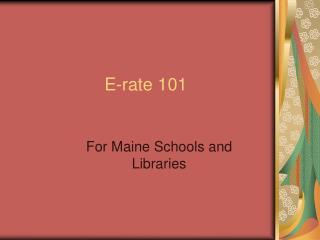 E-rate 101
