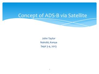 Concept of ADS-B via Satellite