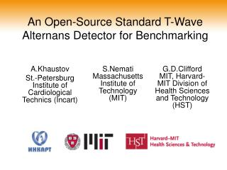 An Open-Source Standard T-Wave Alternans Detector for Benchmarking