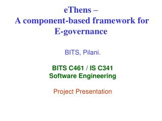 eThens –  A component-based framework for E-governance