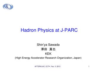 Hadron Physics at J-PARC