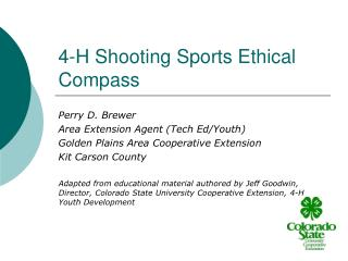 4-H Shooting Sports Ethical Compass
