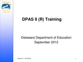 DPAS II (R) Training
