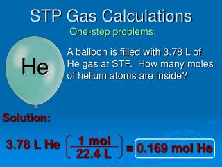STP Gas Calculations