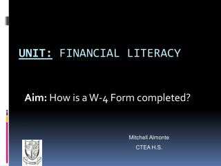 Unit: Financial literacy