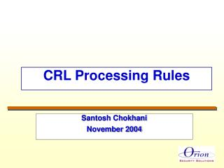 CRL Processing Rules