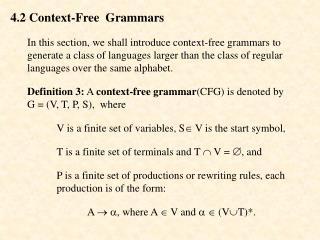 4.2  Context-Free  Grammars