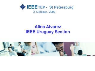Alina Alvarez IEEE Uruguay Section
