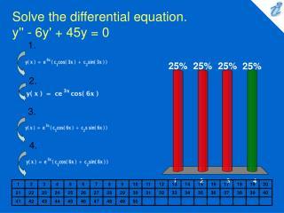 Solve the differential equation.  y'' - 6y' + 45y = 0