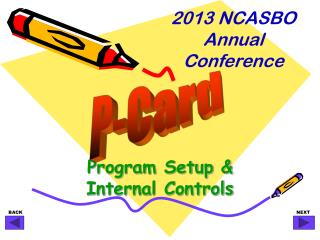 Program Setup & Internal Controls